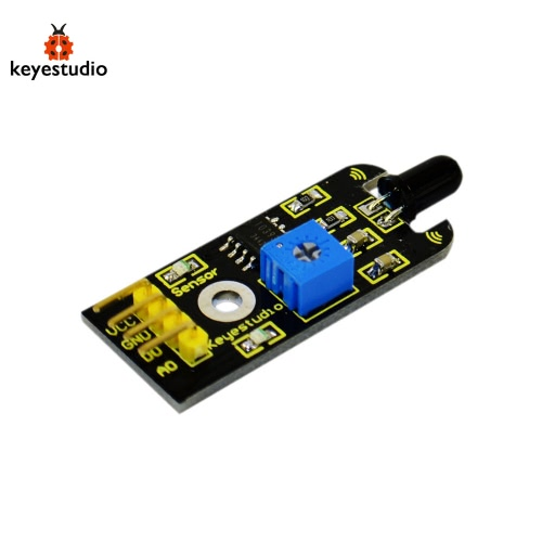 Brand New Keyestudio Flame Sensor Module For Arduino Compatible - Black + Yellow