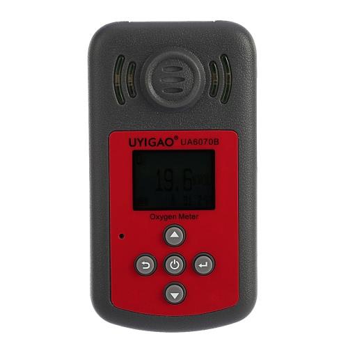 UYIGAO Brand New Ручной портативный Автомобильный мини кислорода Meter High Precision O2 Gas тестер Монитор детектор с ЖК-дисплеем звуковой и световой сигнализации
