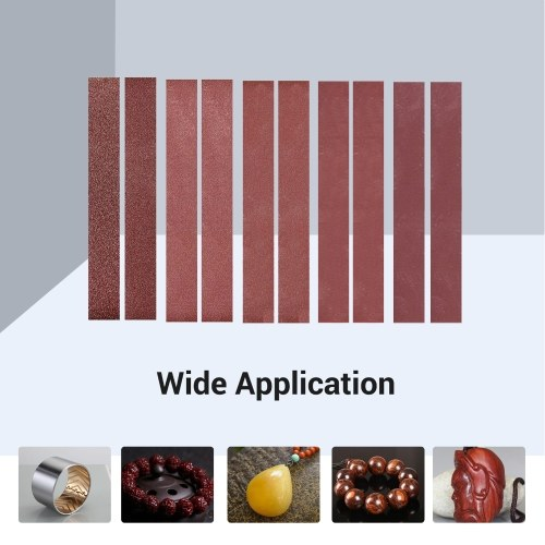 30x300mm 10 Pack Sanding Belts (2 Each of 120 240 400 800 1000 Grits) Aluminum Oxide Sanding Belt Sandpaper Sander Paper for Belt Sander