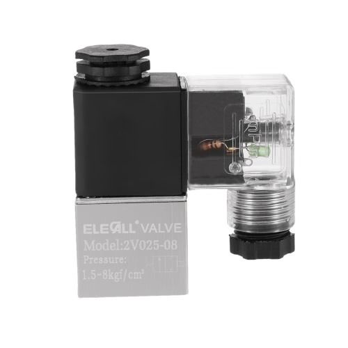 2V025-08 PT1/4 2 Position 2 Way AC110V Pneumatic Solenoid Valve Normally Closed Electric Air Valve