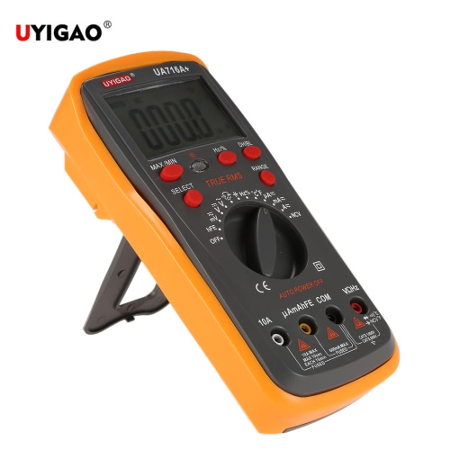 UYIGAO Brand New Portable Digital LCD Multimeter Ohmmeter Ammeter Meter Auto Tester DC/AC Voltage Current Resistance Capacitance Frequency Duty Circle Diode Temperature Triode Continuity Test