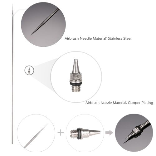 0.2mm Airbrush Nozzle And Needle Replacement for Airbrushes Spray Gun Model Spraying Paint Maintenance Tool Accessories