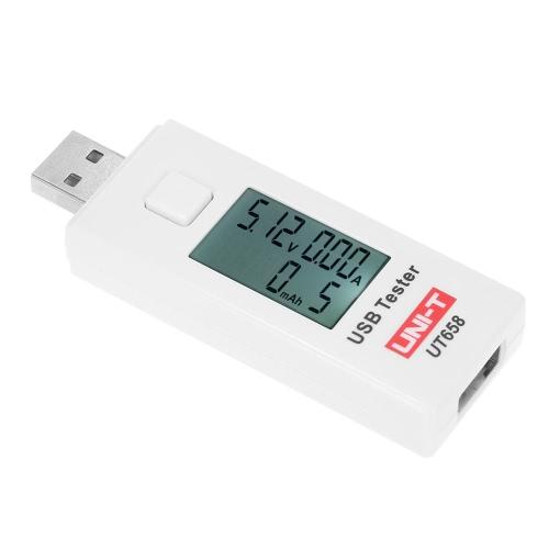 UNI-T UT658 Цифровой LCD USB Напряжение Амперметр U диск Вольтметр Ameter зарядки Емкость Tester DC3-9V 0-3A