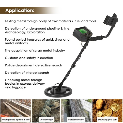 XALO Metal Detectors for Adults//Kids High Adjustable Sensitivity Pinpointer Metal Detector with Submersible Search Coil Backlit LCD Display 7.5 Inch