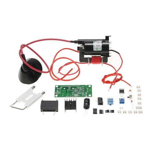20KV ZVS Tesla Coil Booster Высоковольтный генератор плазменной музыки Наборы акустических акустических систем Набор драйверов DIY Kit + катушка зажигания + точка распыления