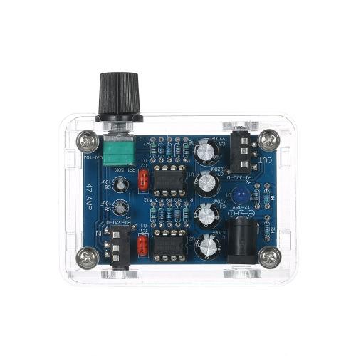 47 Amperio DIY NE5532 Hi-Fi Kit del amplificador del auricular con la cubierta transparente DC9V-18V