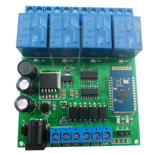 12V 4CH多機能BTリレー(アンドロイド携帯電話用リモコンスイッチ)スマートホームオートメーション