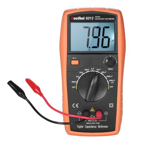 RuoShui 1999 conta com um medidor de capacitância digital de alta precisão com capacitor de capacitância com retroiluminação Display LCD