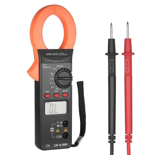 RuoShui 1999 Compteur Digital Clamp Meter Tension AC / DC Courant AC Gamme automatique Portable Handheld LCD Diaplay Multimètre à pinces à distance Contrôleur à diodes à résistance
