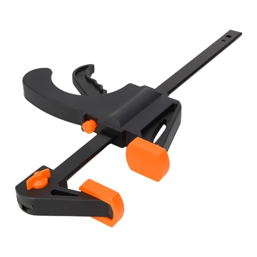8インチ木工バーファストFクランプグリップクイックラチェットリリーススクイーズ木工トリガークランププレートハンドラチェットバーツールクリップ
