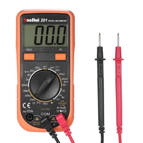 RuoShui Pocket 1999は、デジタルマルチメータをカウントDC / AC電圧を備えた多機能DMM AC電流メータ抵抗ダイオードテスタバッテリ計測LCDディスプレイ