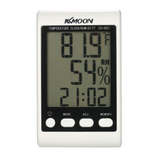 KKmoon LCD ℃ / ℉ Цифровой термометр Гигрометр Температура Влажность Счетчик Будильник с голубой подсветкой
