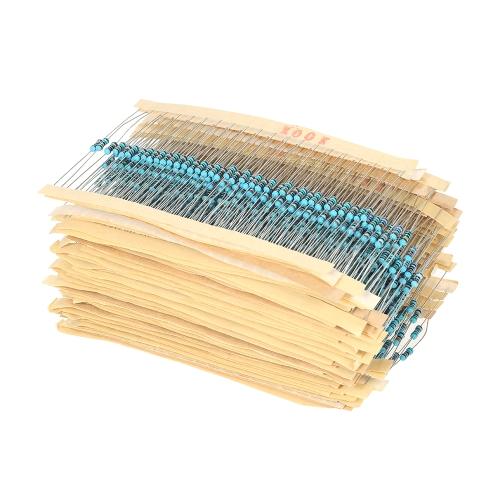 1460pcs 73値1オーム〜1Mオーム1 / 4W 1%金属皮膜抵抗器アソートメントキット電子部品