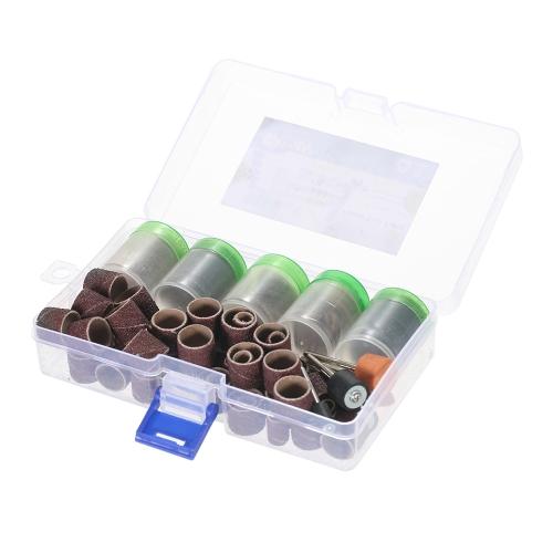 """206pcs 1/8 """"Shank Rotary Tool Acessórios Set Lixamento Moagem Escovando Bits de polimento Kit de acessórios com caixa de armazenamento para Dremel Grinder"""