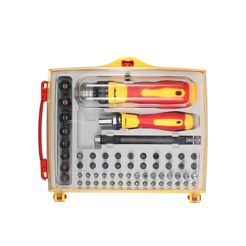 62pcs Multi-functional Screwdrivers Sockets Set com Hex Torx Slotted Phillips Bits Electrical Work Repair Tools Kit