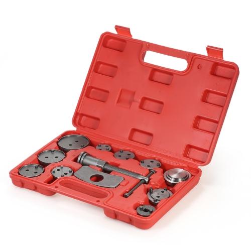 12pcs Auto Universal Discos de freio Caliper Car Wind Back Pad Piston Compressor Automóvel Garagem Repair Tool Kit Set com estojo