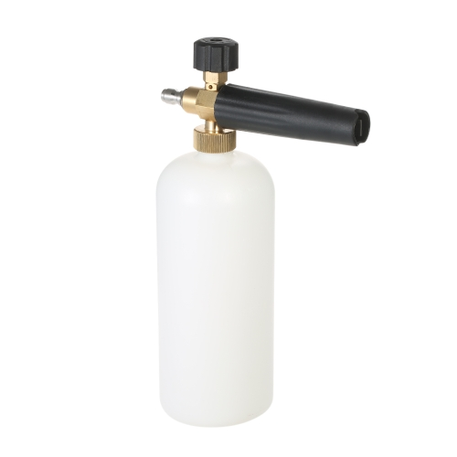 Adjustable Foam Cannon 1 Liter Bottle Snow Foam Lance with 1/4 Quick Connector for Pressure Washer Gun
