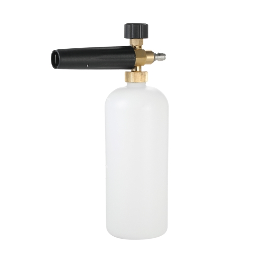 Adjustable Foam Cannon 1 Liter Bottle Snow Foam Lance with 1/4