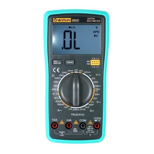 Multimetro digitale portatile LCD NCV True RMS Multimetro DC / AC Tensione corrente Tester di capacità Resistenza a diodi Tester