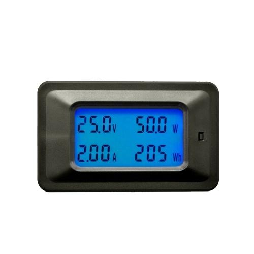 Multi-functional 100V 20A LCD Backlight Display Digital Meter Voltage/Current/Power/Energy Tester Monitor Multi-meter Ammeter Voltmeter Built-in Shunt