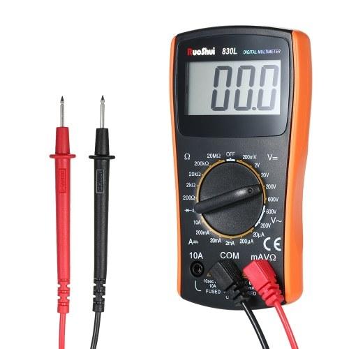 RuoShui 1999 conta Mini multimetro digitale Multimetro multi-funzionale Amperometro portatile Voltometro Misuratore Tensione DC / AC Corrente continua Tensione diodo Tester Test di continuità Display LCD