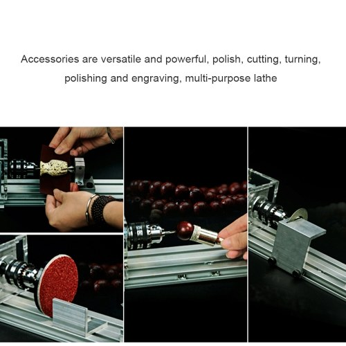 Mini Lathe Beads Polisher Machine Universal Set