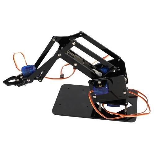 Робот-робот ручной роботизированной руки Комплект роботизированной лапы Акрилик + Набор шнеков + Сервомашины + Материнская плата