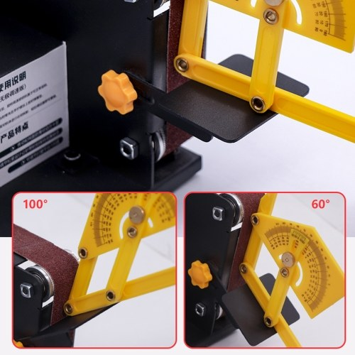 Micro Mini Electric Belt Sander DIY Polishing Grinding Machine Fixed Angle Sharpening Blade Bench Machines E6076-3