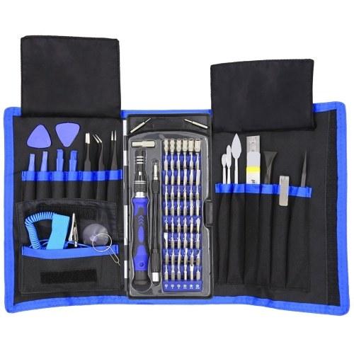 80 em 1 conjunto de chave de fenda de bolso com kit de driver magnético profissional eletrônica reparação de conjuntos de ferramentas com bolsa de Oxford portátil