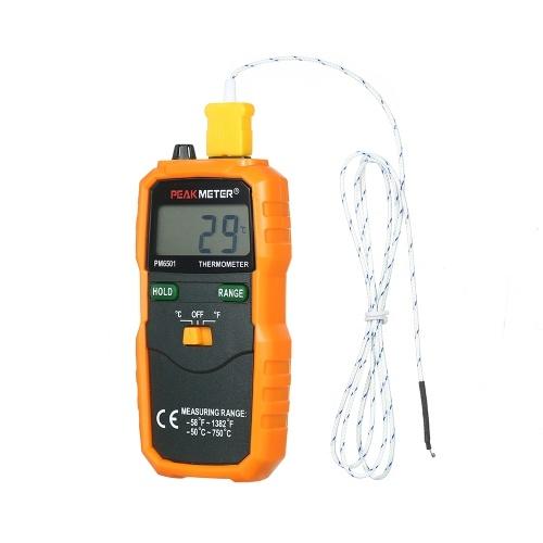 PEAKMETER PM6501 ЖК-дисплей Беспроводной измеритель температуры типа K Термопара с удержанием данных / регистрацией Цифровой термометр
