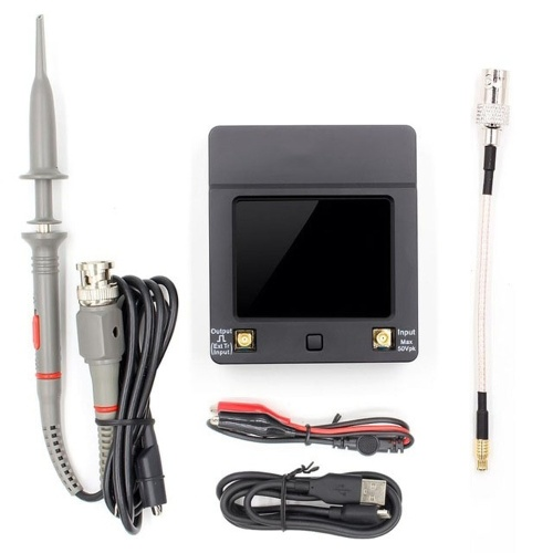 DSO 112A TFT Portable Mini Digital Oscilloscope Touching Screen Oscilloscopes with 2MHz Bandwidth and 5Ms Sampling Rate