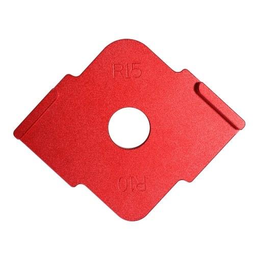 2pcs Half Round Corner Radius Quick Jig Positioning Template R-angle Locator Aluminum Alloy Engraving Machine for Woodworking