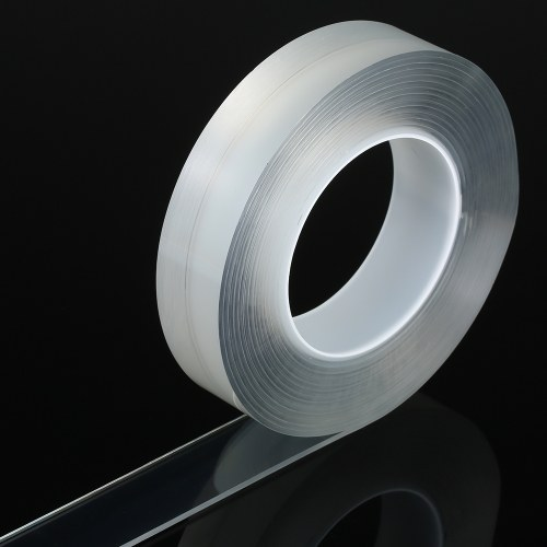 Double-sided Tape Adhesive Tape Washable Adhesive Tape Nano Tape Reusable Adhesive Silicone Tape Traceless Double-sided Adhesive Tape Reusable Traceless Tape Stick to Glass Metal Kitchen Cabinets or Tile