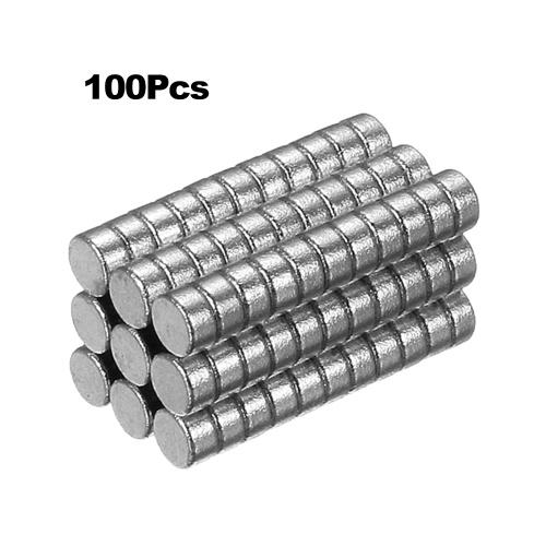 100ピースミニサイズ2×1ミリメートルN50レアアースネオジム磁気用ホワイトボード冷蔵庫diy工芸品など