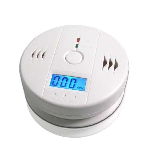 LCD Carbon Monoxide Detector CO Gas CO Carbon Monoxide Detector High Sensitivity Detector Smoke Alarm Poisoning Smoke Fire Security Alarm Warning Sensor Home Security