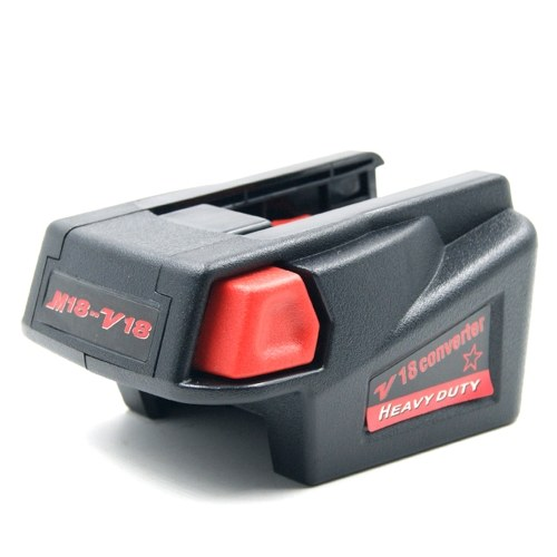 Powerful Adapter Converter for Milwaukee M18 18V Li-ion Cell to Milwaukee V18 18V Cell Lithium Cordless USB Charge Tool