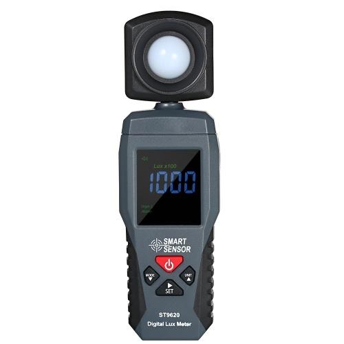 SMART SENSOR Digital Lux Meter LCD Display Handheld Illuminometer Luminometer Photometer Luxmeter Light Meter 1-200000 Lux ST9620