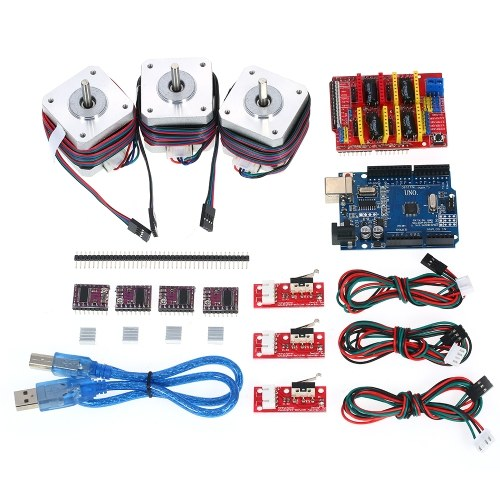 Arduino R3 CNC Starter Kit w/ UNO + Shield + Stepper Motor DRV8825 Endstop  A4988 GRBL