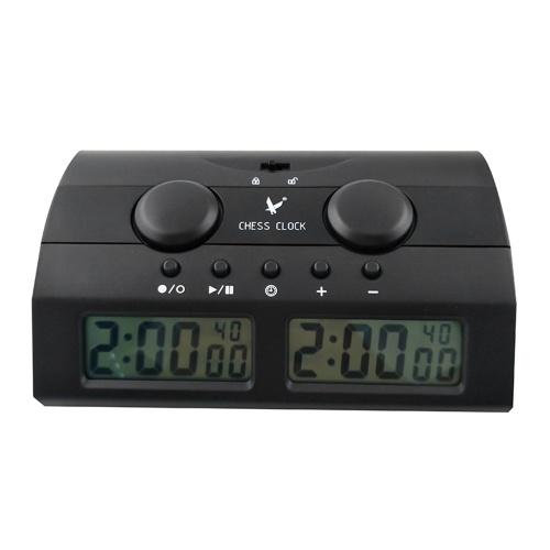 Schachuhr Professionelle multifunktionale digitale Schachuhr Count Up Down Timer Spiel-Timer mit Bouns und Verzögerung PQ9902C
