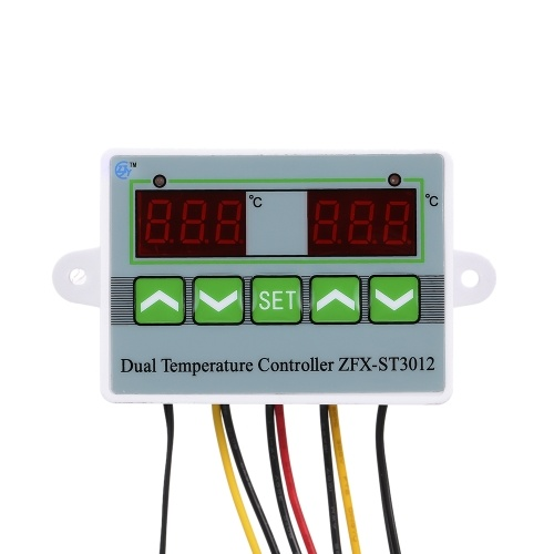 220V ST3012 Dual Digital Temperature Controller Microcomputer Thermostat Switch