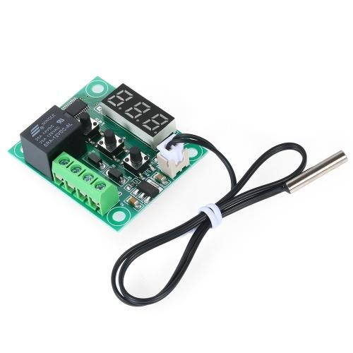 XH-W1209 termostato digitale regolatore di temperatura ad alta precisione termostato riscaldamento / raffreddamento modulo interruttore di controllo della temperatura mini scheda di controllo della temperatura con display a LED rosso