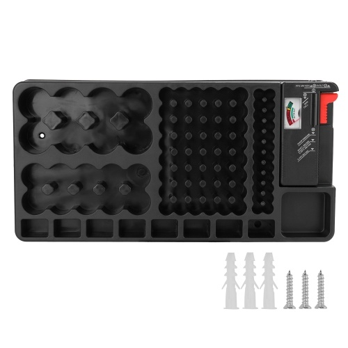 Portable Convenient Storage Cell Organizer With Tester Portable Holder Case Box Checker DIY Kit