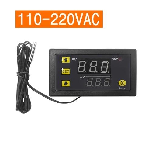 W3230 Mini Controlador de Temperatura Digital Display LED Regulador Termostato AC110V-220V 20A Interruptor de Controle de Temperatura Sensor Medidor