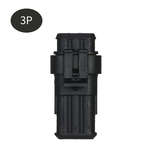 5pcs 3-Pin Way Waterproof Electrical Connector Plug with Male And Female Terminals 5 Kit Car Electrical Wire Connector Plug for Car Truck