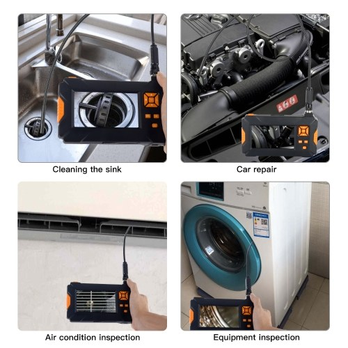 4.3 Inch LCD Color Screen 1080P Handheld Endoscope Industrial Home Endoscopes with 8 LEDs
