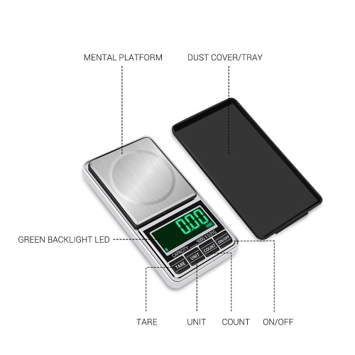Portable Digital Scale Gold Jewelry Scale Mini Pocket Digital Scale Professional Accurate Electronic Scale Precision Balance 100g/0.01g DH-938C
