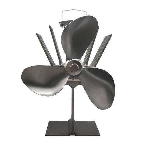 Ventilatore a stufa a 3 pale alimentato a calore Camino ultra silenzioso Ventilatore a legna Eco per una distribuzione efficiente del calore