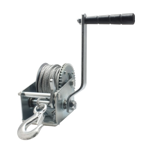 600lb Steel Cable Hand Winch Crank Gear Winch ATV Boat Trailer Heavy Duty