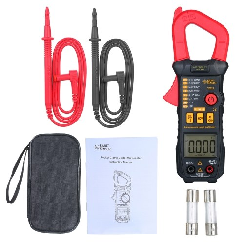 SMART SENSOR Digital Clamp Meter High Precision Automatic Range Multimeter AC Clamp Ammeter Clamp Gauge ST823