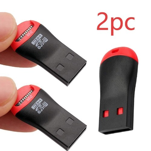 2PCS Memory Card Reader Adapters To USB 2.0 Adapter for Micro SD SDHC SDXC TF